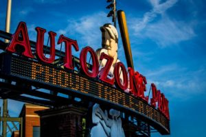 Photo of the sign of Autozone MILB Park